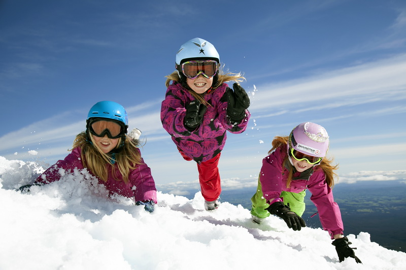 snow play Ruapehu Region image courtesy RAL
